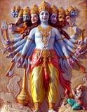 Lord Shrikrishna (Vishvaroop) Royalty Free Stock Photo