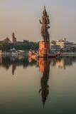 Lord siva, sursagar, baroda, india. Morning view of Lord Siva statue at Sursagar Lake, Baroda, India Stock Photos