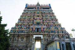 Lord Siva Temple Front View - Chidambaram arkivfoto