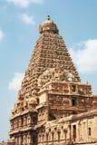 Lord Siva Temple Tower - Thanjavur fotografia stock libera da diritti
