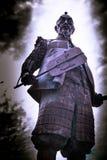 Lord und Wächter des Schlosses von Osaka stockbild