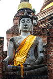 Lord van Boedha in Ayutthaya Thailand Royalty-vrije Stock Afbeelding