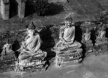 Lord van Boedha in Wat Yai Chai Mongkol Ayutthaya Royalty-vrije Stock Afbeelding