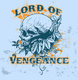 Lord of Vengeance. T-shirt design Royalty Free Stock Photos