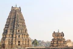 Lord Virupaksha tempel, Hampi, Indien Arkivfoto