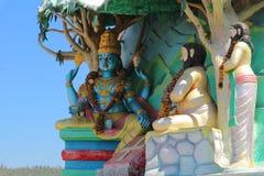 Lord Vishnu e due saggi Fotografie Stock Libere da Diritti