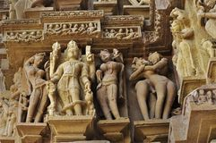 Lord Vishnu Sculptor at Vishvanatha Temple, Western Temples of Khajuraho, Madhya Pradesh, India - UNESCO world heritage site. Lord Vishnu Sculptor at Stock Photo
