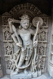 Lord Vishnu sculpture  at Patan step well. Stock Photo