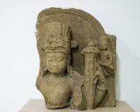 Lord Vishnu Stone Idol Head India fotografia de stock royalty free