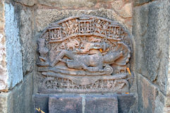 Lord Vishnus Statue an Ranis ki vav, patan, Gujarat Lizenzfreie Stockfotografie