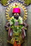 Lord Vithal förebild, Vitthal Mandir, Vithalwadi, Prati Pandharpur Arkivfoto