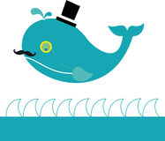 Lord Whale. Vector illustration of a whale lord Vector Illustration