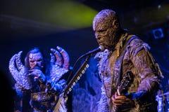 Lordi i Prague 2016 Arkivfoton