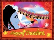 Lordrama het doden ravana Gelukkige Dussehra Royalty-vrije Stock Afbeelding