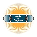 Lords of Dogtown skateboard style vector illustration