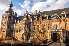 Arenberg castle, a 14th century castle built by the lords of Heverlee, in Flanders, Belgium stock photo