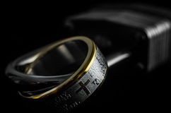 Lords Prayer Ring on a Padlock Stock Images