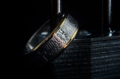 Lords Prayer Ring on a Padlock Royalty Free Stock Photography