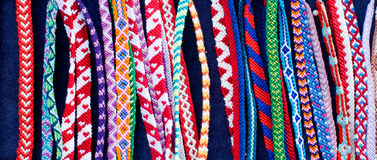 Lored friendship bracelets Stock Image