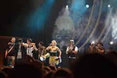 Loredana and her band Royalty Free Stock Image