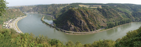 Loreley panorama Royalty Free Stock Photos