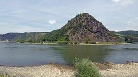 Loreley岩石在圣Goarshausen时间间隔的,德国 股票录像
