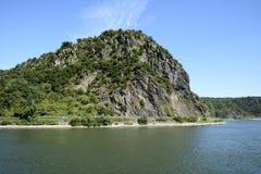 Loreley岩石 图库摄影