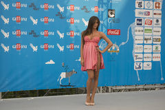 Lorella Boccia in Giffoni Stockbilder