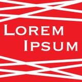Lorem ipsum con il fondo rosso delle bande bianche illustrazione vettoriale