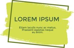 Lorem ipsum de bannière, couleur jaune illustration de vecteur