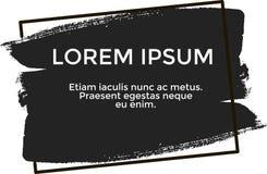 Lorem ipsum de bannière, couleur noire illustration libre de droits