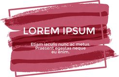 Lorem ipsum de bannière, couleur rouge illustration libre de droits