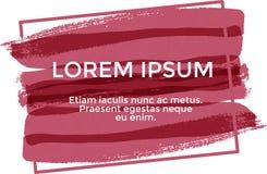 Lorem ipsum dell'insegna, colore rosso royalty illustrazione gratis