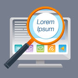 Lorem Ipsum magnify. Find the word Royalty Free Stock Photography
