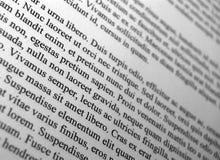 Lorem Ipsum text paragraphs Stock Image