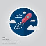 Lorem ipsum text and rocket. Vector of lorem ipsum text and rocket on white background Royalty Free Stock Image