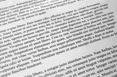 Lorem ipsum-Textparagraphen Stockfotos