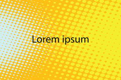 Lorem ipsum yellow abstract pop art retro background Stock Photography
