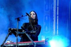 Loren Humphrey, jogador de teclado moreno bonito da faixa de protetores Imagens de Stock Royalty Free