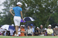 Lorena Ochoa waits to putt Stock Image