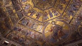 LORENCE,意大利- 2016年11月:Battistero二圣乔瓦尼内部  美好的最高限额 影视素材