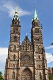 Lorenz church in Nuremberg Stock Image