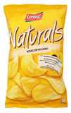 Lorenz Naturals Classic potato chips bag isolated on white Stock Image