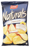 Lorenz Naturals parmesan cheese potato chips bag isolated on white Stock Images