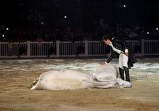 Lorenzo avec ses chevaux chez le Bahrain Photos stock