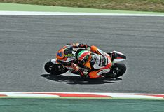 Lorenzo Baldassarri in the circuit of Catalonia Stock Photography