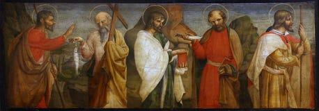 Lorenzo d ` Alessandro: Pięć apostołów obrazy stock