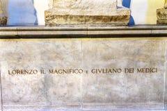 Lorenzo Magnificent Medici Tomb San Lorenzo Medici Church Florence Italy stock fotografie