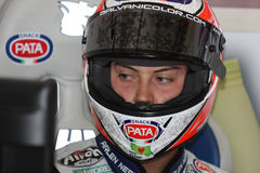 Lorenzo Zanetti - Ducati 1098R - PATA che corre squadra immagini stock