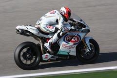 Lorenzo Zanetti - Ducati 1098R - Rennend Team PATA Royalty-vrije Stock Afbeelding
